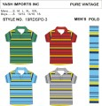 COTTON/POLY SHORT SLEEVE STRIPE POLO