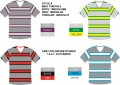 19RDVN-2 COTTON POLY SHORT SLEEVE STRIPE V NECK