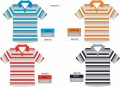 COTTON/POLY STRIPE POLO