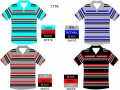 SHORT SLEEVE STRIPE V NECK